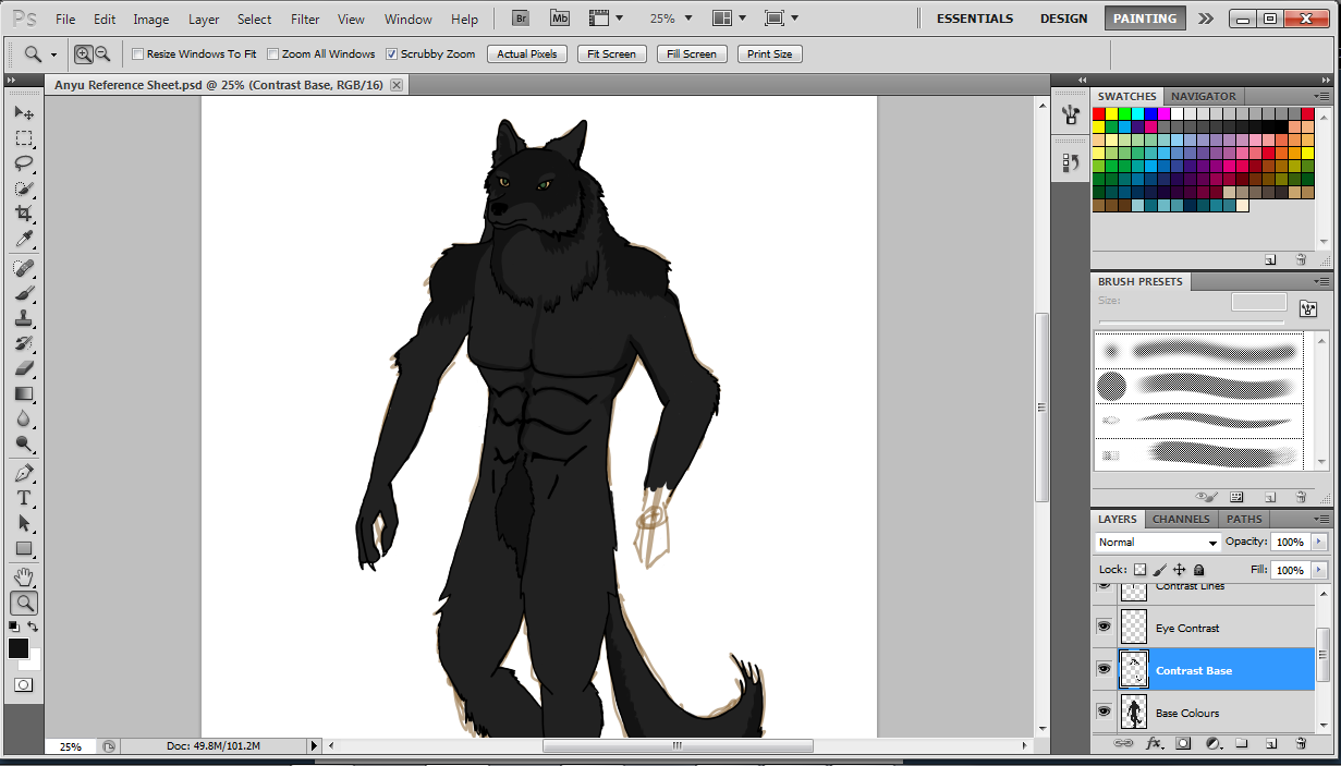 Why am I incapable of drawing hands/paws? :| Anyway, this is a WIP of Anyu, one of my werewolves. Seriously if anyone has some hand/paw drawing tips, please share them. That left hand has been giving me so much trouble.