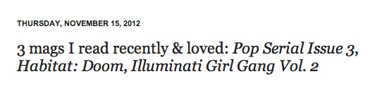 seemstween:  dennis cooper featured illuminati girl gang vol. 2 on his blog