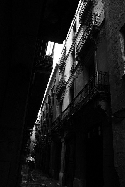 Ciutat Vella on Flickr.Barcelona under the rain