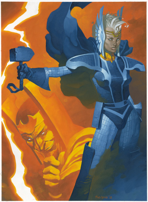 thehappysorceress:  Storm of Asgard by Chris Stevens