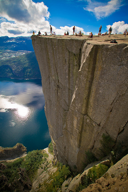 Pulpit Rock, Prekestolen, Norway photo via under