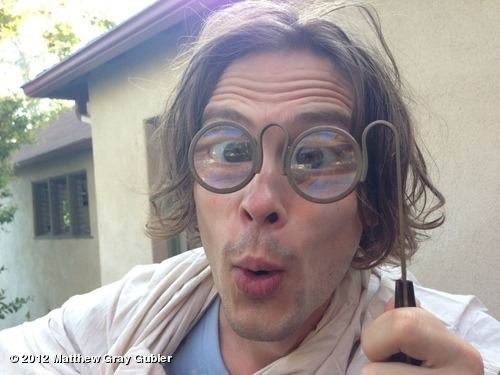 gublernation:  these glasses are so strong i can see you seeing me through your computer screen… p.s i like what you've done with your hair View more Matthew Gray Gubler on WhoSay