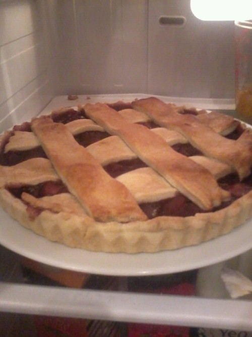 Apple and blackberry pie :)