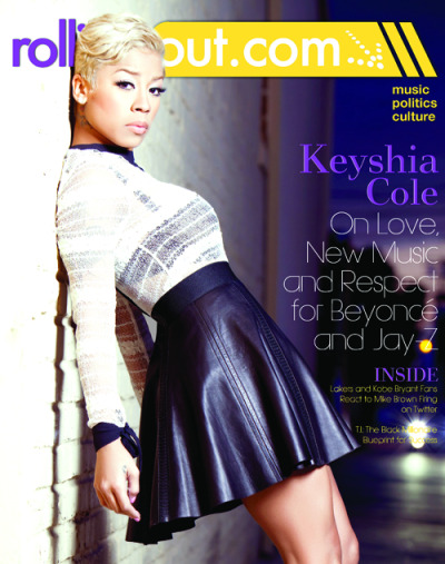 Keyshia Cole for the latest issue of Rolling Out magazine…