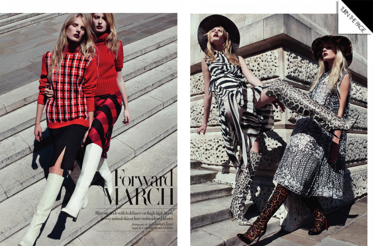 Harper's Bazaar UK | Stephanie Hall and Nina Oud | Alessio Bolzoni | Nov. 2012