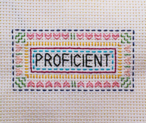 """Proficient"" Made for a friend, fall 2012."