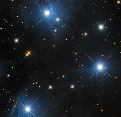 Messier 45  Maia, Celaeno, Electra and Merope. The Pleiades.