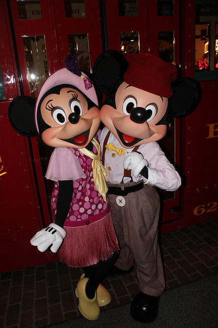 dapperhannah:  Meeting Buena Vista Street Minnie and Mickey by Loren Javier on Flickr.