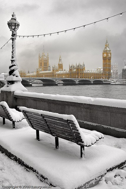 Snowy Day, London, England photo via patty