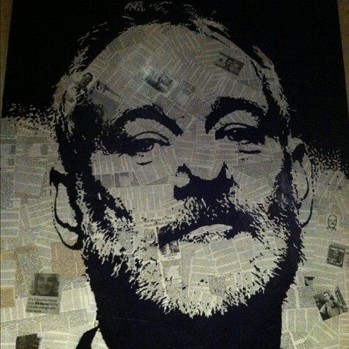 Bill Murray..made from news clippings and photos of himself #billmurray #art