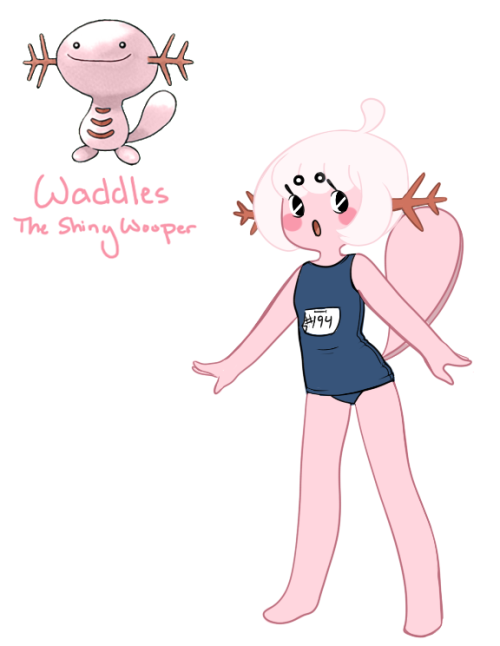 breadpuddi:  Quicky of my loli shiny Wooper, Waddles.(Since I promised last night) I might make one of my Lopunny some other time.  MY GOD.