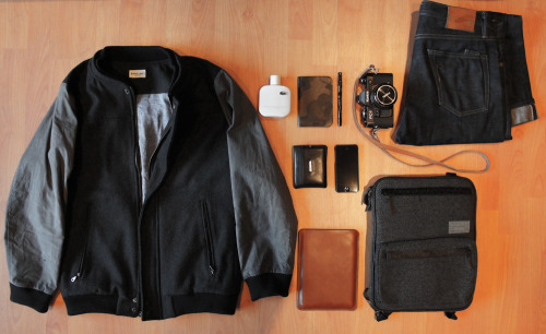 Today Bridge & Burn - Smith Black Waxed Cotton Varsity Maxx & Unicorn - Camouflage Calf Leather Notebook Frank Clegg Leatherworks - Custom made iPad Mini Case Rogue Territory - 14.5oz Stantons (Barely worn in) iPhone 5 Cologne Hex - Drake Macbook Sleeve