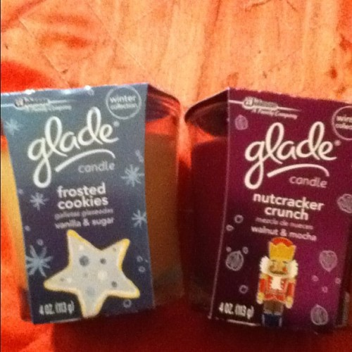 I just love holiday candle scents! Picked these two up today!!