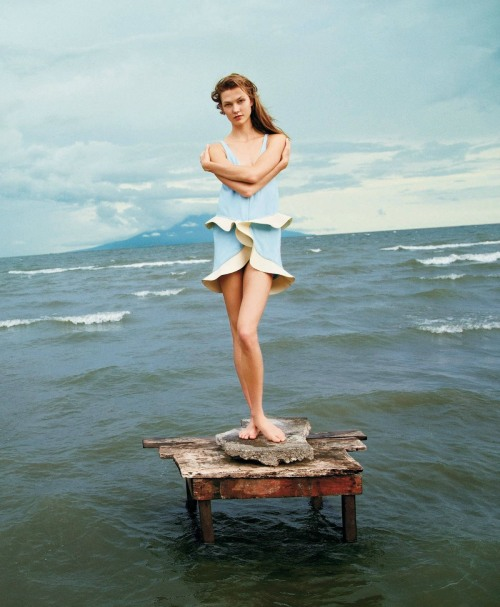 "garavani:  Karlie Kloss in ""A Delicate Balance"" by Ryan McGinley for T Style Travel Winter 2012"