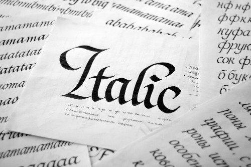 Typeverything.com - Italic by Mikhail Karagezyan.