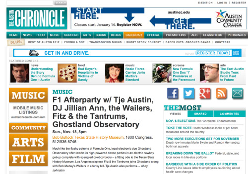 "jillianann:  Mentioned in the http://www.austinchronicle.com  (♥♫♥googlemaps should be given hi-tech military satellites  for Real-Time ""googlegigs"", then i'd NEVER have to EVER miss Her Shows, ♥): ♥♫♥ http://www.reverbnation.com/artist/artist_shows/352062 ♥♫♥ ♥♫♥ http://www.beatport.com/artist/jillian-ann/171427 ♥♫♥ ♥♫♥ http://www.reverbnation.com/jillianann ♥♫♥ ♥♫♥ http://jillianann.bandcamp.com/ ♥♫♥ ♥♫♥ http://www.djjillianann.com/ ♥♫♥:) ♥♫♥ http://rvrb.fm/Z90h3i  ♥♫♥"