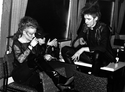 Chloe Picot and Blixa Bargeld, April 1984 - Photo by Peter Gruchot