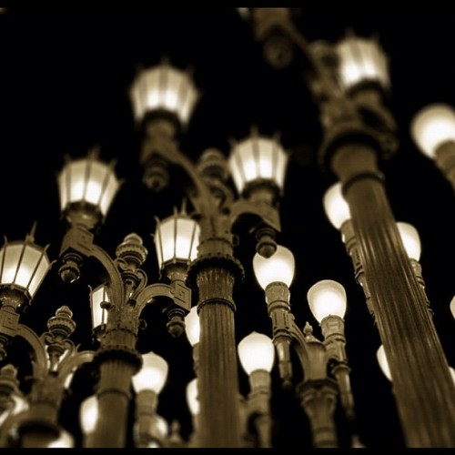 #lacma #urban #lights #installation #sepiatone #losangeles #modern #art #instapic   (at Los Angeles County Museum of Art (LACMA))