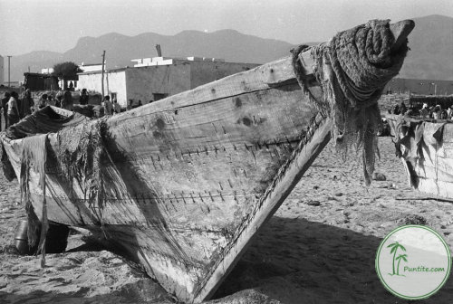 Beden (an ancient maritime vessel that remains the longest surviving sewn boat in the Horn of Africa and the Arabian Peninsula) - Qandala, Puntland 1984