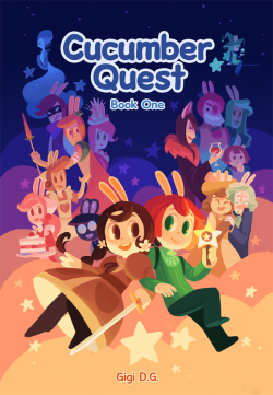gigidigi:  Hello! Book One of Cucumber Quest is now available in the online shop. If you missed out on the Kickstarter months ago, now you can un-miss out on it!