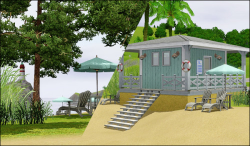 More beach spam! There are two cabins/shacks. One is basically a restroom and the bigger one (previous pic) has a grilling/eating area and a super small WA food shop (so it's basically a cafe/restaurant).