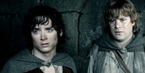"In The Two Towers, when Frodo and Sam are in Osgiliath, Sam says, ""By rights, we shouldn't even be here."" This was a nod to the deviation the screenplay had taken from the book's storyline. In the book, Sam and Frodo never passed through Osgiliath at all."