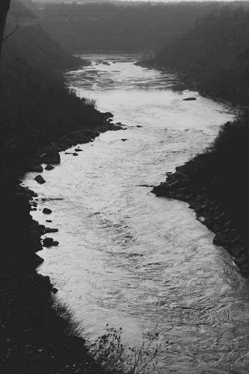 The river from above.