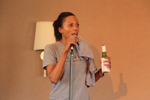 Aisha Tyler at the LA Podcast Festival by Scott Sutton