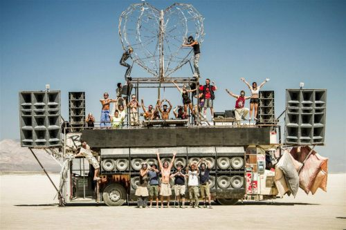 Robot Heart's mobile soundsystem at Burning Man.