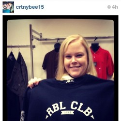 S/I to one of our main supporters @crtnybee15 she's #rebelclub all the time.