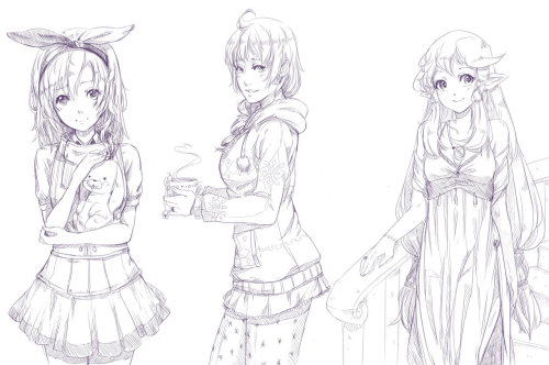 Some more sketch requests. I just can't stop.. 'orz