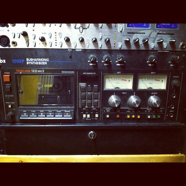 I am forever haunted by #tapefever #tascam  (at Stadium Red Studio)