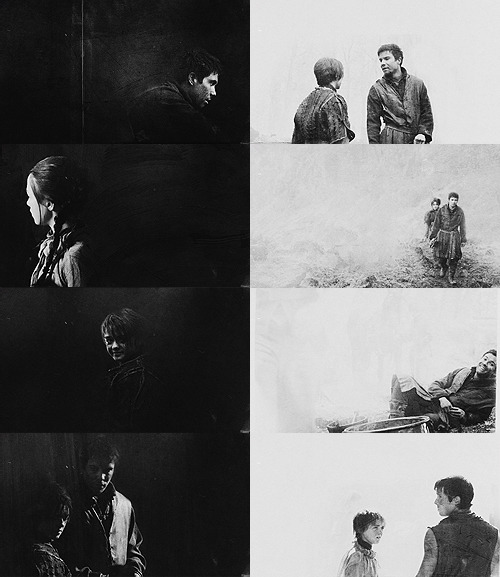 Game of Thrones, Arya/Gendry, B&W - asked by anon