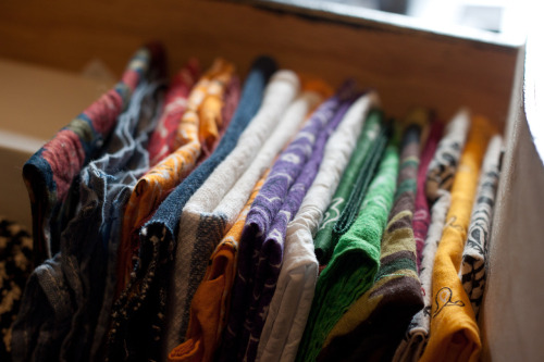 colors of bandanas and other assorted pocket companions.