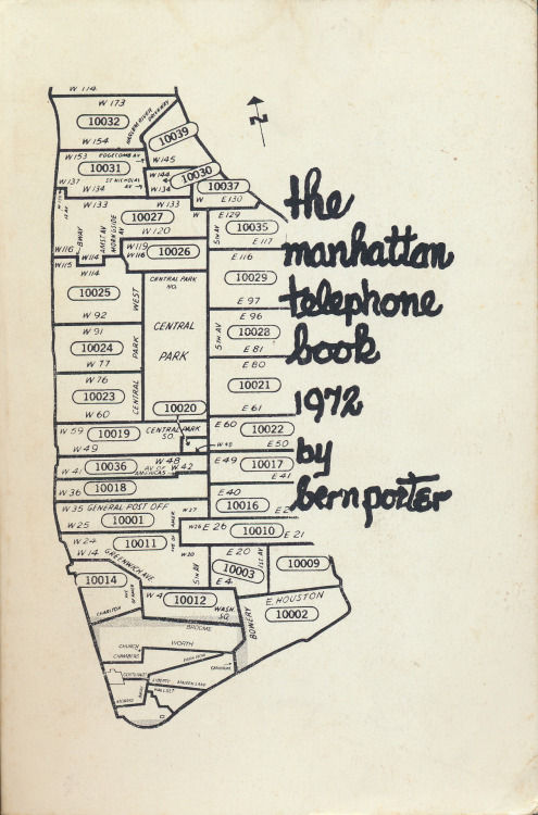 The Manhattan Telephone Book 1972 by Bern Porter, Abyss Publications, Somerville, Mass., 1975.