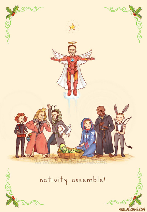 Avengers Nativity Assemble!You can buy this Christmas card at Red Bubble, here! Part of my fandom Christmas Card series - you can see the rest on RedBubble here! Others include Star Wars, Lotr, Hunger Games, Dr Who and Harry Potter. Enjoy!