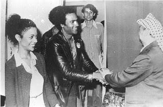 "yourhue:  Huey Newton & Yasser Arafat - ""We support the Palestinian's just struggle for liberation one hundred percent"""