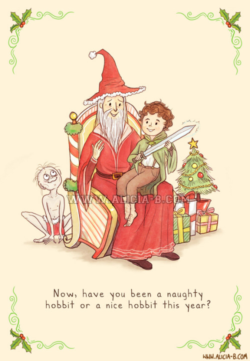 And have you been a good hobbit this year?You can buy this Christmas card at Red Bubble, here! Part of my fandom Christmas Card series - you can see the rest on RedBubble here! Others include Star Wars, Doctor Who, Hunger Games, The Avengers and Harry Potter. Enjoy!