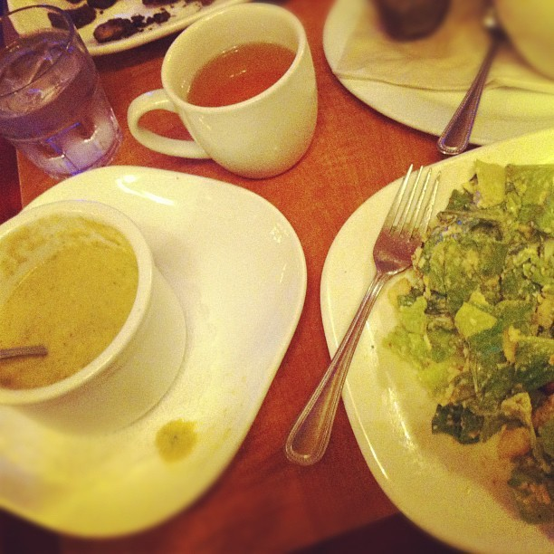 Soup, salad and tea. Quite refreshing.  (at Squat & Gobble Cafe)