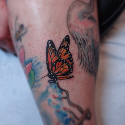 #nofilter #butterfly #monarch #colorphoto #tattoo #savannah #horikappa #jimmybutcher #customtattoos #ink #girly