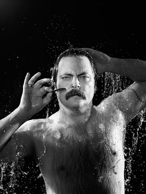 megan-mullally:  Nick Offerman - People's Sexiest Man Alive! - Moustache Edition
