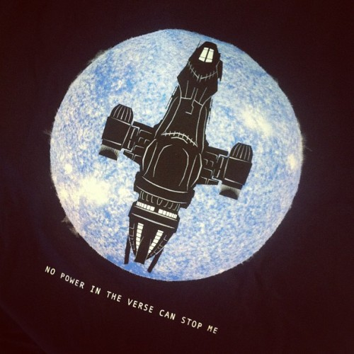 geekchictees:  Thanks for the great print @qwertee ! #firefly  Got it! #Awesome