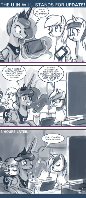 "askprincessmolestia:  ""Excitement fading… must make sandwich…"" ~ Luna"