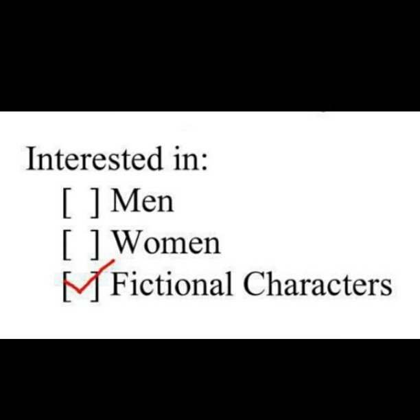 #interestedin #men #women #fictionalcharacters