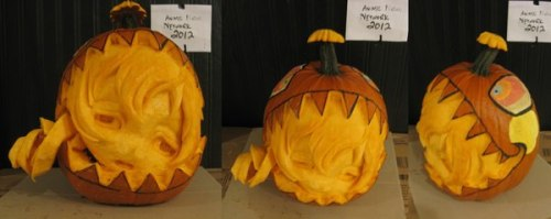 I AM FUCKING SCREAMING QAQ (From Anime News Network's ANNual Pumpkin Carving Contest)