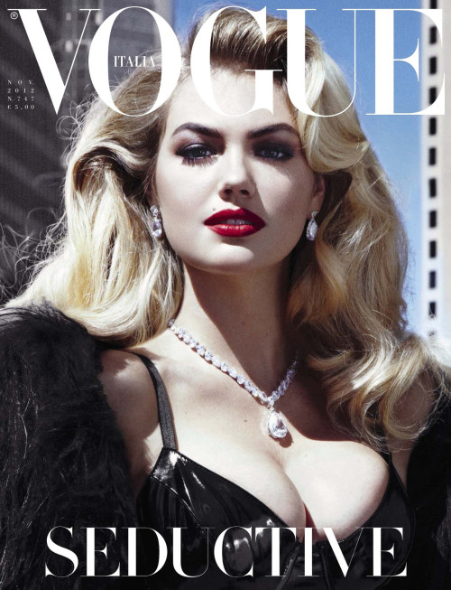 modelta:  Vogue Italia: November 2012Kate Upton by Steven Meisel   Related articles Kate Upton for Vogue Italia Video (slamxhype.com) Vogue Italia November 2012: Seductive (misseychelles.wordpress.com) Kate Upton for Vogue Italia (chelseadeluca.wordpress.com) Kate Upton's Vogue Career Is Going Strong (nymag.com) Kate Upton Videos: Sexy vs. Seductive! (thehollywoodgossip.com)