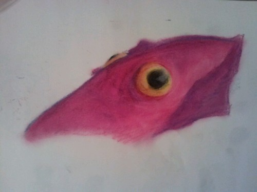 Wip of some squid thing with pastels