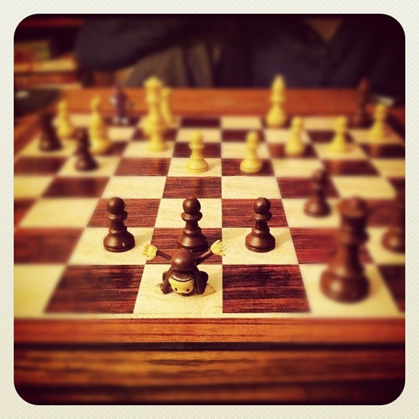 astroblackstimejournal:  Upside down monkey for my king! Play Chess!