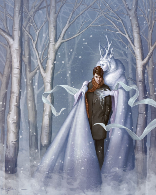 "fairytalemood:  ""The Snow Queen"" by kelleybean86"