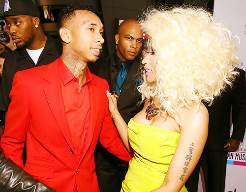Tyga and Nicki Minaj at the AMAs